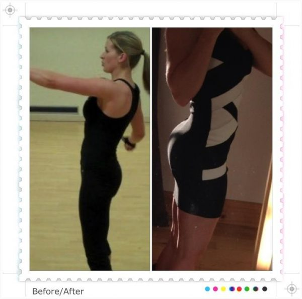 glute training, hip thrust, before and after